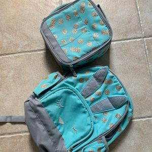 Pottery barn small book bag and lunch box